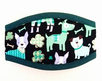 LUCKY DOG PREMIUM Quality Belly Band with Your Choice Border Color / Dog Diaper /Dog Potty Training Aid / Incontinence Wrap Male Dog Puppy