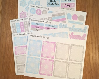 Winter Themed ECLP & Happy Planner Weekly Planner Stickers