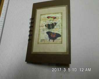 handmade tea dyed journal
