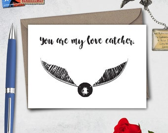 Harry Potter Valentines day card, Hogwarts card, Harry Potter card, Hogwarts letter, Harry Potter letter, funny valentine card