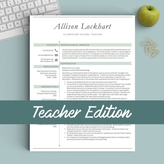 teacher resume template for word pages 1 2 and 3 page resume template cover letter references icons flag teacher cv template - Teacher Resume Format