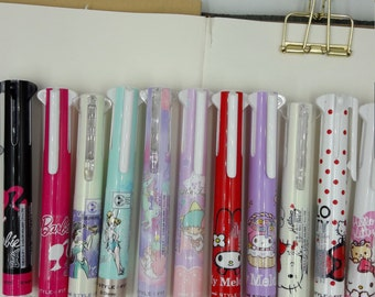 Updated* 13 Limited Edition Uni Style Fit Hello Kitty, Barbie, Melody, Ariel 5 color Barrel - 1 pen ONLY, like Coleto, ink not included