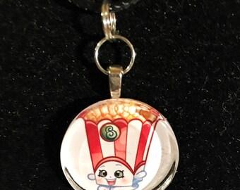 Poppy corn inspired necklace
