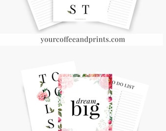 To Do List Printable, To Do list Planner, To Do Notepad, To Do List Notebook, Printable Planner Pages, Classic Happy Planner,to do list 2017