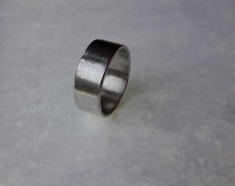 Sterling Silver Simple Textured Band Ring
