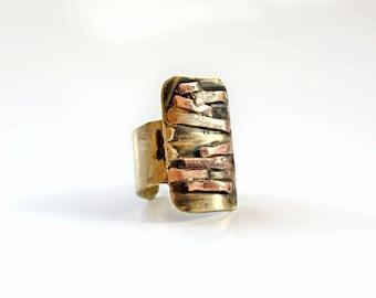 Band ring wide Adjustable ring Statement jewelry Feminine jewelry Plate ring jewelry Metal jewelry women Geometric ring Metal ring gift