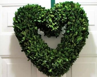 Valentines Boxwood Wreath , Preserved Wreath ,Wedding Wreath, Mirror wreath ,Heart Boxwood Wreath ,  Year round Wreath