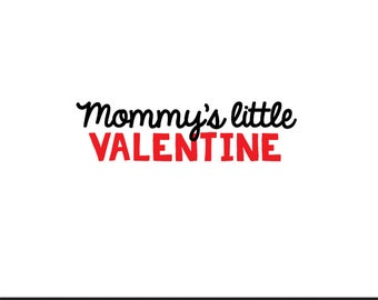 mommy's little valentine svg dxf jpeg png file stencil monogram frame silhouette cameo cricut clip art commercial use