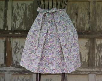 Handmade Half Apron, Kitchen Apron, Garden Apron, Cotton, Pleated, driving miss daisy