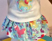 3 Piece UNICORN Doll Outfit