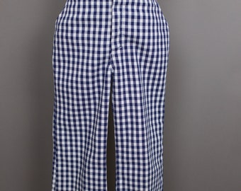 VINTAGE CHILD GINGHAM blue white Super Denim pants size 4/5T