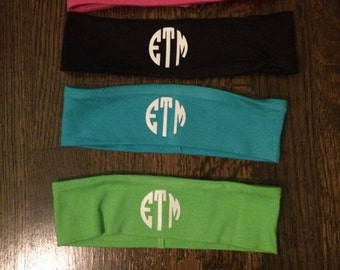4 Pack Monogram Stretchy Headbands