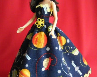 Barbie Space Ball Gown: barbie doll clothes, barbie clothes, barbie dress, barbie gown, barbie space, barbie doll convention, buttercup