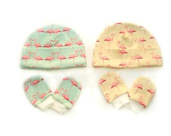 Flamingo Organic baby clothes baby hats boys hats Size 0-3 months beanie toddler hat newborn hat newborn hats baby boy hat