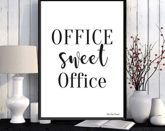 Office Wall Decor, Office Quote, Office Wall Art, Word Art, Digital  Typography