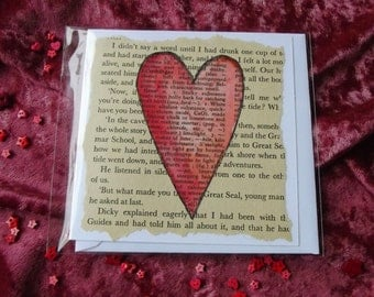 Love Heart Cards - Handmade, MADE TO ORDER, Valentine, Mother's Day
