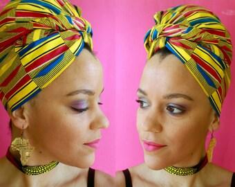 Two Piece Set Headwrap + Choker Necklace | Headscarves | Headwraps for Women | African Head Wraps for Women