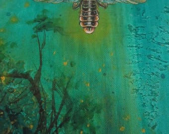 Firefly Ceramic Tile, Forest Lantern