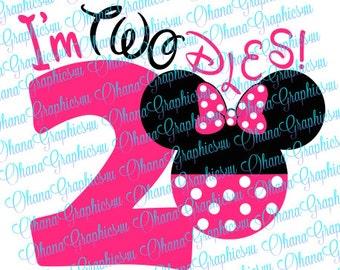 Minnie I'm TWOdles SVG