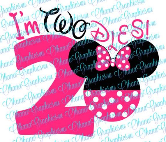 Minnie I M Twodles Svg
