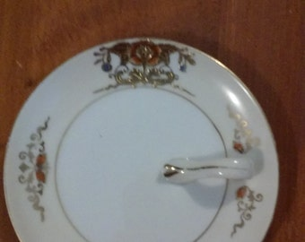 Hand Painted Noritake Plate with handle