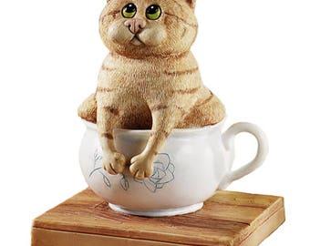 Сat in Pot Mold 3d Fat Kitty in Pot 3d Fat cat sits in Pot 3d Kitty Mold funny Cat Mold Silicone Mold cat
