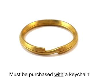 Key Chain Alteration: Solid Brass Key Ring, Split Ring
