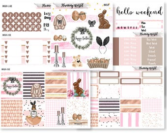 Easter Love//VERTICAL Weekly Kit for Erin Condren, Happy Planner//Easter Stickers//7 Sheets of Stickers//B059