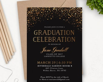 College Graduation Invitation Template / Grad Party Invites / Graduation Announcement / Graduation Party Invitations Printable