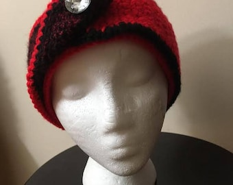 Beanie Hat with a Front Crossover