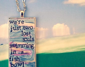 Pink Floyd Wish You Were Here Pendant Necklace