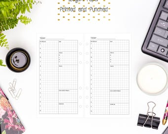 Personal Grid Day Per Page | 1DOP | DO1P | 1D1P Inserts for Personal Filofax | Medium Kikki K | Colour Crush Planners - V2