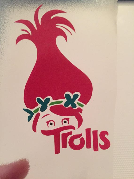 Trolls Decor Poppy Poppy Layered Decal Troll Hair Trolls