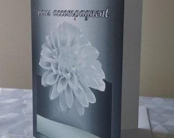 Card greetings/condolence/Encouragement/sympathy/speedy recovery/hospital/Fleur/Dahlia-CD-SF-1976-04