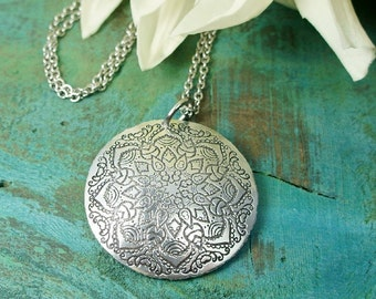 Boho Mandala Necklace, bestfriend gift, friendship necklace, layered necklace, best friend, bff, gift for daughter girlfriend, hippie