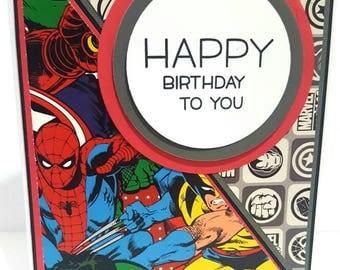Marvel Birthday Card