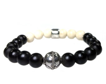 Sterling Silver Onyx bracelet, Fossil and 415