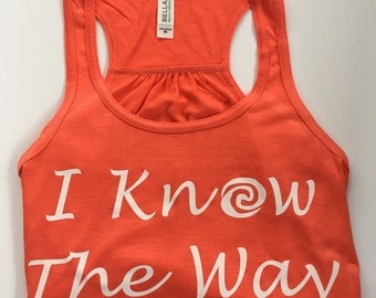 I know the way! Womens coral tank