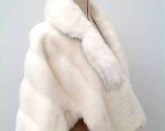 Beautiful faux fur jacket mink vintage