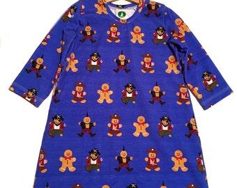 A-Line gingerbread friends dress
