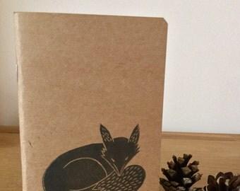 Fox A6 Handprinted Notebook
