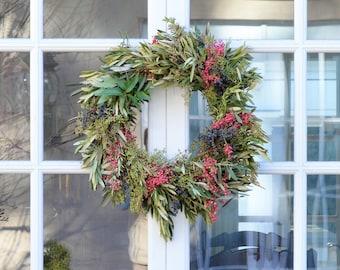 Adina Pepperberry Wreath | Summer Wreath | Front Door Wreath | Olive Wreath | Summer Wreaths for Front Door  | Wreaths for Front Door