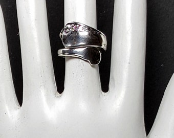 SILVER SPOON RING Size 7 Vintage Sterling Spoon Ring Silver Band Ring
