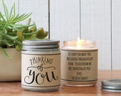 Thinking of You Candle Greeting - Cheer Up Gift | Get Well Gift | Miss You Gift | Condolence Gift | Send a Gift | Think of You Gift