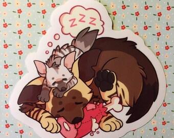 Hyena Friends - Vinyl Transparent Sticker