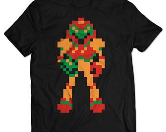 Metroid Samus NES T-shirt