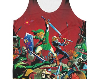 The Legend of Zelda: Ocarina of Time Link and Sheik Sublimated Tank Top