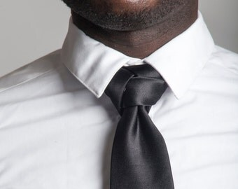 Black Trinity Zipper Ties