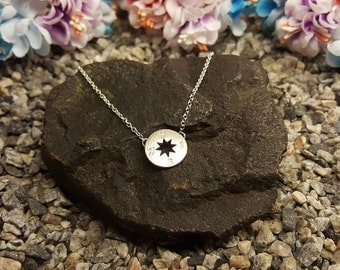 Compass necklace, Compass charm, Compass pendant, Silver compass, Journey necklace, silver compass charm, compass direction,wanderlust charm