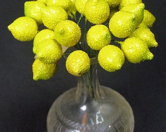 Vintage Germany Fruit Lemons MILLINERY New Old Store Stock Hat Trim and Crafters